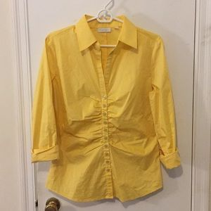 New York & Company M yellow button down